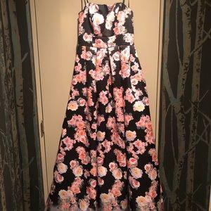 Floral prom dress.